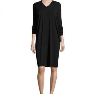 Eileen Fisher Silk Jersey long sleeve v neck Dress